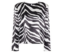 Zebra-print Velvet Top
