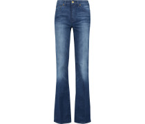 High-rise Flared Jeans Mittelblauer Denim