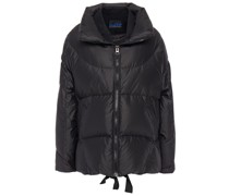 Quilted Shell And Twill Down Jacket