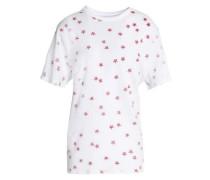 Printed cotton and linen-blend jersey T-shirt