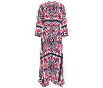 Printed Crepe De Chine Midi Dress