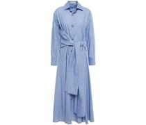 Hemdkleid in Midilänge aus Baumwoll-chambray mit Gürtel