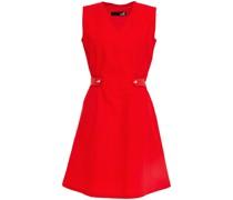 Rubber-trimmed Cotton And Linen-blend Mini Dress
