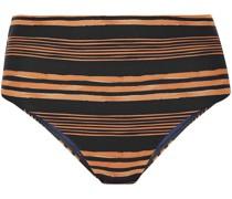 Isabela Hoch Sitzendes Bikini-höschen mit Streifen