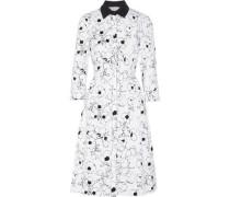 Printed cotton-poplin dress