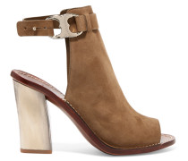 Gemini Suede Sandals Champignon
