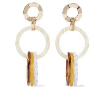 Hammered Gold-plated Acrylic Earrings
