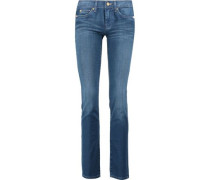 The Straight low-rise straight-leg jeans