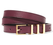 Ariane Leather Belt Burgunder