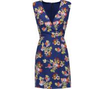 Dennis Floral-print Crepe Mini Dress Mehrfarbig