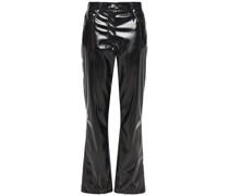 Vinyl Straight-leg Pants