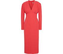 Iliana Gathered Crepe Midi Dress