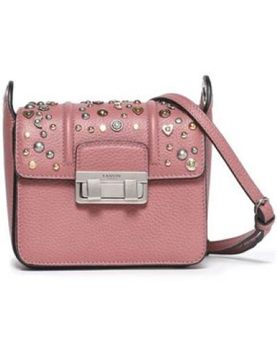 Lanvin Damen Jiji studded textured-leather shoulder bag