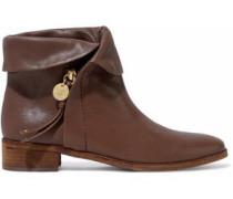 Masha brushed-leather ankle boots