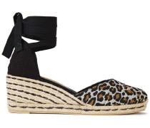 Carina 70 Cotton-blend Leopard-jacquard Wedge Espadrilles