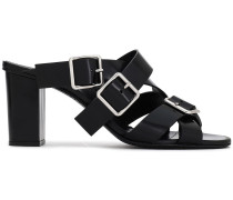 Buckled Leather Mules