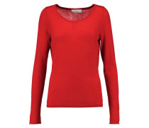Cutout Embroidered Cashmere Sweater Rot