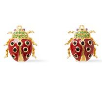24 Kt. Verete Ohrringe mit Kristallen und Emaille