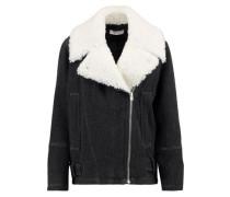 Soizit wool-blend biker jacket