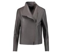 Libra Leather Biker Jacket Dunkelgrau