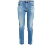 Halbhohe Jeans mit Schmalem Bein in ausgewaschener Optik