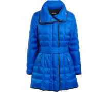 Belted Quilted Shell Coat Ultramarin