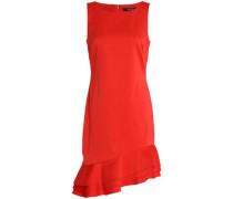 Asymmetric ruffle-trimmed cady dress
