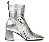 Phuture Printed Metallic Leather Ankle Boots