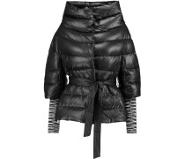 Quilted Down Shell Coat Schwarz
