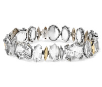 Silver And Gold-tone And Crystal Bracelet Silber