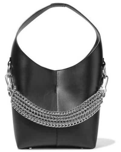Genesis Chain-detailed Leather Shoulder Bag Black Size --