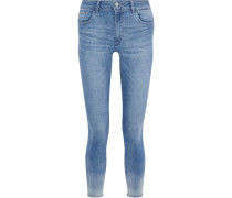 Woman Florence Cropped Faded Mid-rise Skinny Jeans Mid Denim