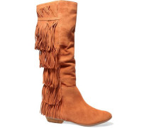 Kamilia fringed suede knee boots