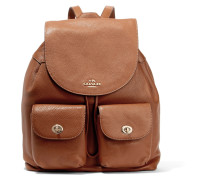 Billie Textured Leather Backpack Braun