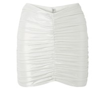 Ruched Metallic Swim Skirt
