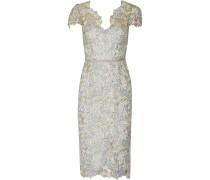 Grosgrain-trimmed Lace Dress Himmelblau