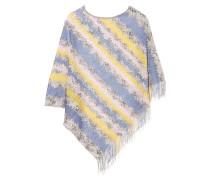 Crochet-knit Poncho Mehrfarbig