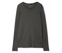 Distressed Slub Cotton-jersey Top
