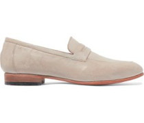 Penny textured-leather loafers