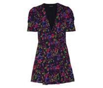 Lea Floral-print Chiffon Wrap Mini Dress