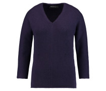 Ribbed Cashmere Sweater Dunkellila