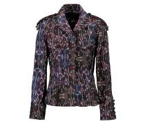 Printed Cotton Jacket Mitternachtsblau