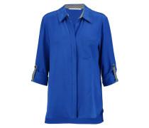 Lorelei Silk Crepe De Chine Shirt Blau