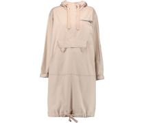 Appliquéd cotton-blend hooded coat
