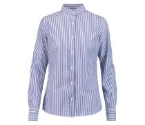 Striped Cotton Shirt Blau
