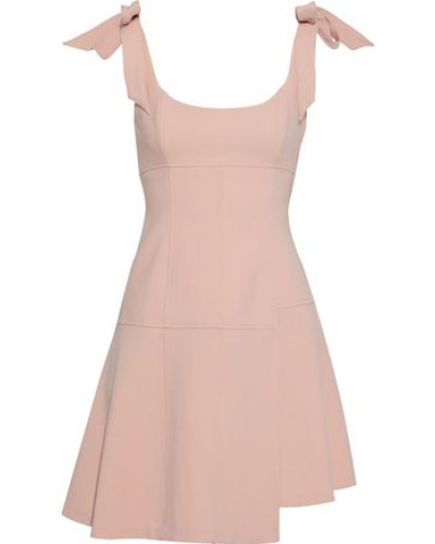 Woman Jeanette Bow-detailed Cady Mini Dress Baby Pink