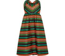 Strapless striped jacquard dress