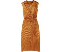 Nicole Pleated Satin Midi Dress
