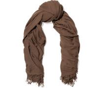 Blanket Textured-knit Cashmere Scarf Schokoladenbraun