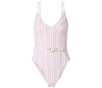 Myra Badeanzug mit Gürtel und Polka-dots